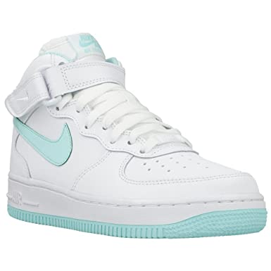 reputable site d53b9 d7c3b Nike Air Force 1 MID (GS) Schuhe white-artisan teal - 38: Amazon.co.uk:  Clothing