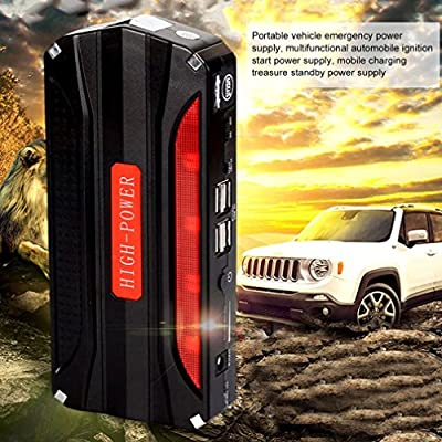 Multi Function Jump Starter Portable 68800mAh 4 USB Car Power Supply Rechargeable Power Bank High Power Battery Accessory