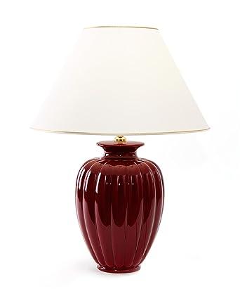Aus RotTischlampe Keramik Lampe Tischleuchte Bordeaux Palazzo E27 n8ywNm0Ov
