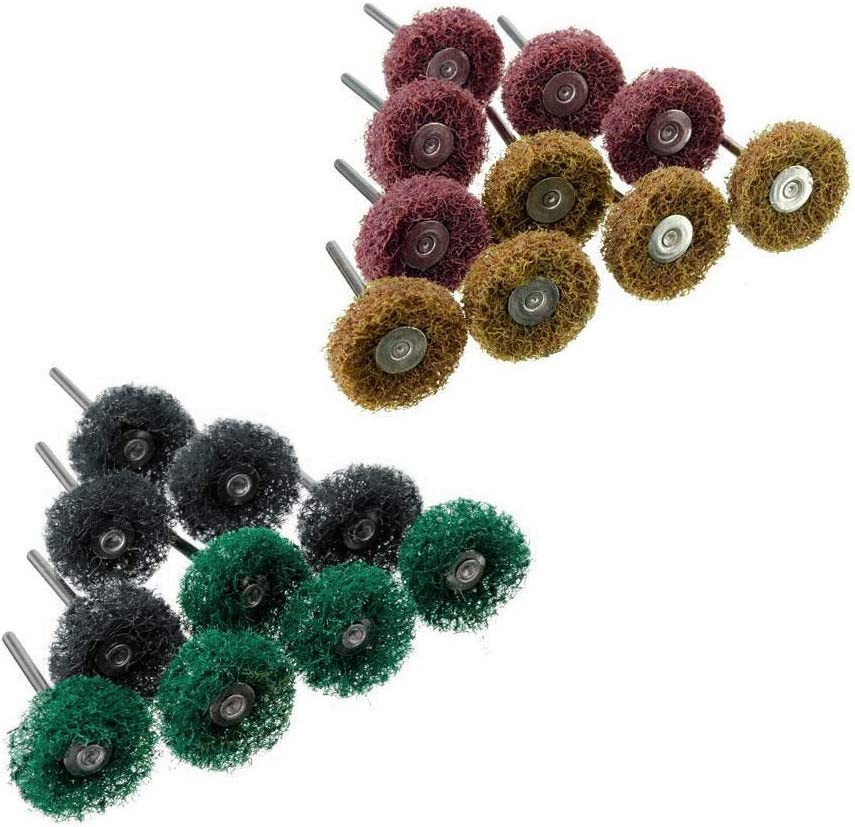 A0127 20 piezas Puffer pulidora Abrasive 1Scotch Brite Wheels Mixed Set New Sell