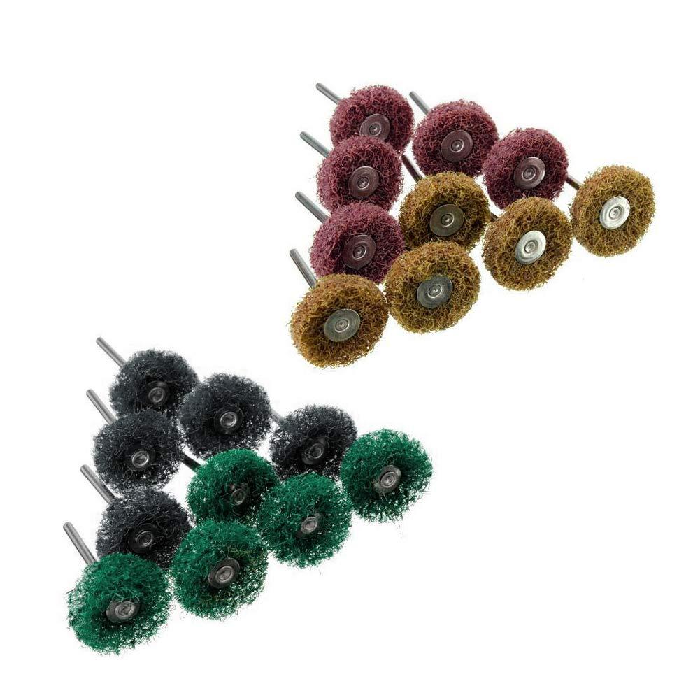 YUNAWU Scouring pad Grinding Buffers Polishers Abrasive Wheels Mixed Set