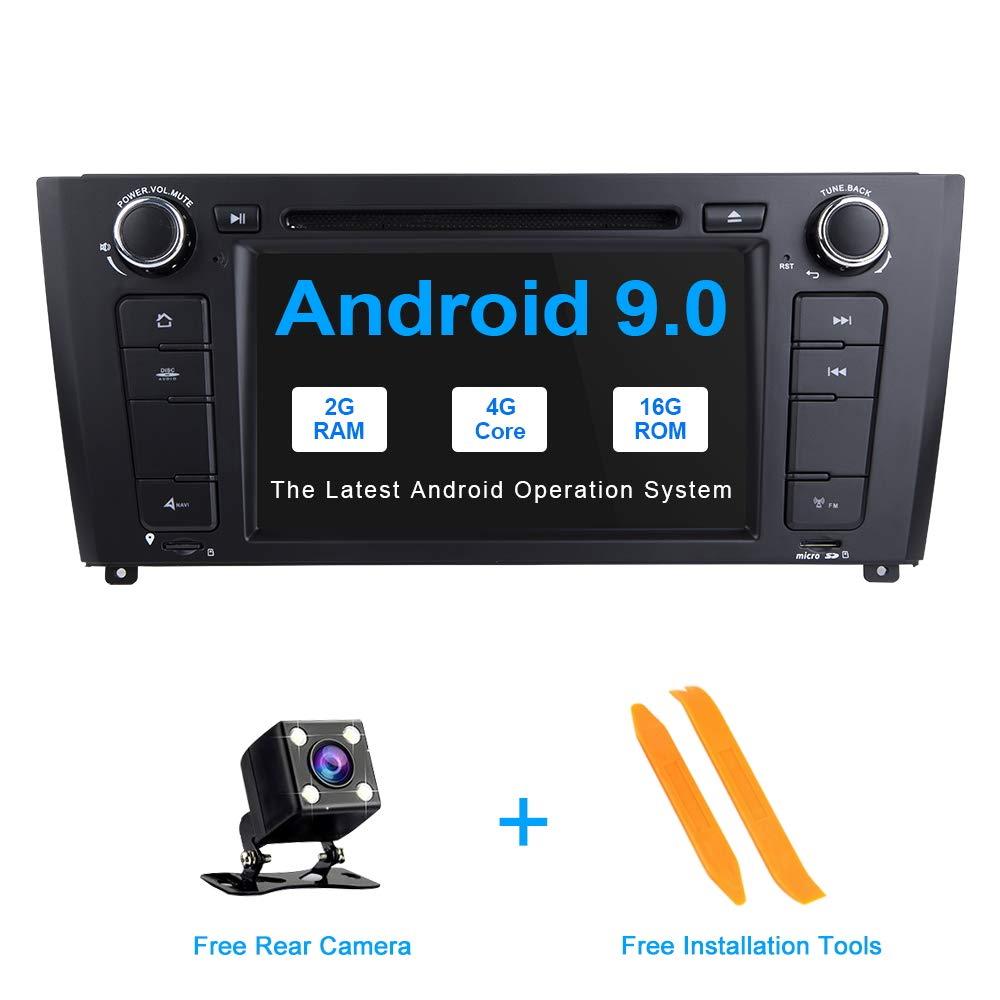ZLTOOPAI pour BMW E81 E82 E87 E88 1 Série 7 Pouces Android 9.0 Autoradio Stéréo GPS Navigation Voiture GPS Media Player Support caméra de recul DVR OBD TPMS Full RCA