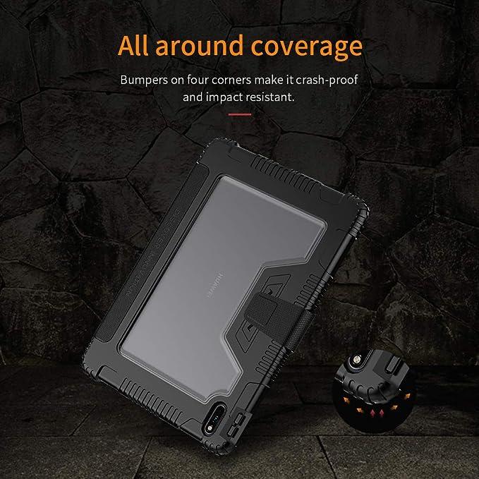 Funda de Cuero magn/ética Especial para Huawei MatePad Pro 10.8 2019 MRX-W09 W19 AL09 AL19 Funda de Cuero Especial para Huawei MatePad Pro 10.8-Coffe