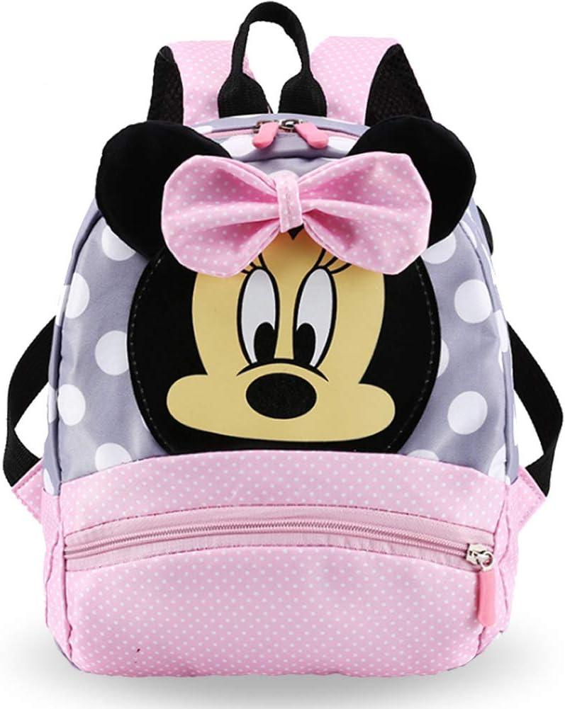 Mochilas Escolares - WENTS Material Escolar para Niñas Mochila Infantil con Minnie Mouse en Diseño 3D Mochila Rosa de Gran Capacidad Regalos Originales para Niñas