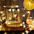 ASTOTSELL LED Stars String Lights, 17ft/5M 50LEDs Decorative Wire String Light for Indoor, Bedroom, Patio, Parties, Warm White