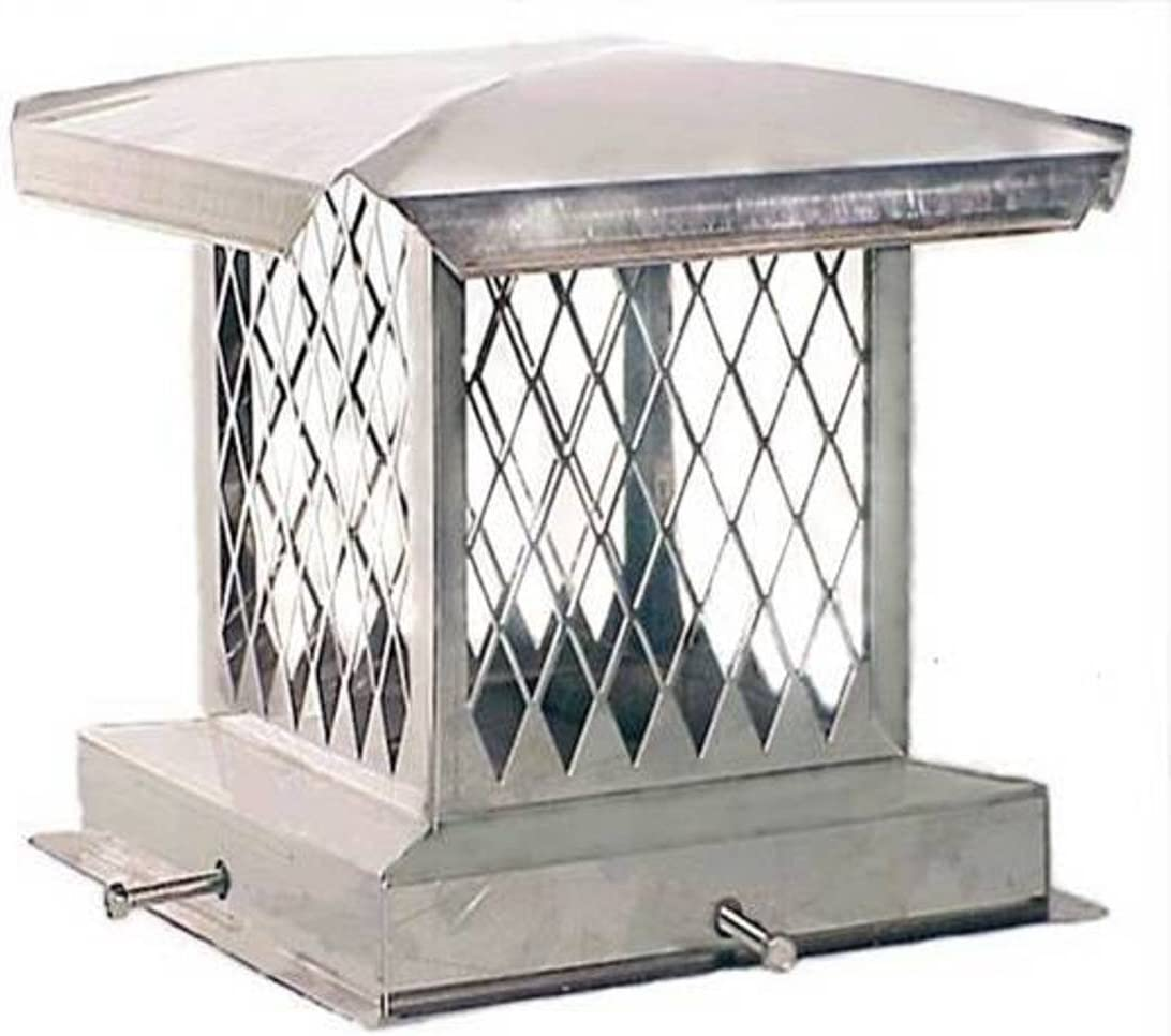 The Forever Cap CCSS1721 17 x 21-Inch Stainless Steel 5//8-Inch Spark Arrestor Mesh Chimney Cap