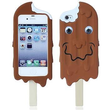 coque iphone 4 silicone chocolat