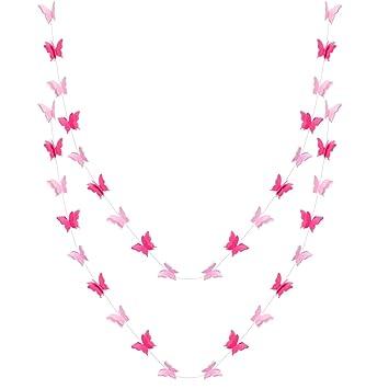 Amazon.com: Migavan - Guirnaldas de papel con mariposas para ...