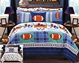 Chic Home Allstar 8 Piece Reversible Comforter Patchwork Print Athletic Youth Design Bed in a Bag-Sheet Set Decorative Pillow Shams Included Size, Full, Multi Color
