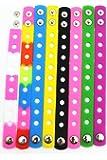 Amazon Com 7 Quot Rainbow Rubber Bracelet Wristband For Shoe