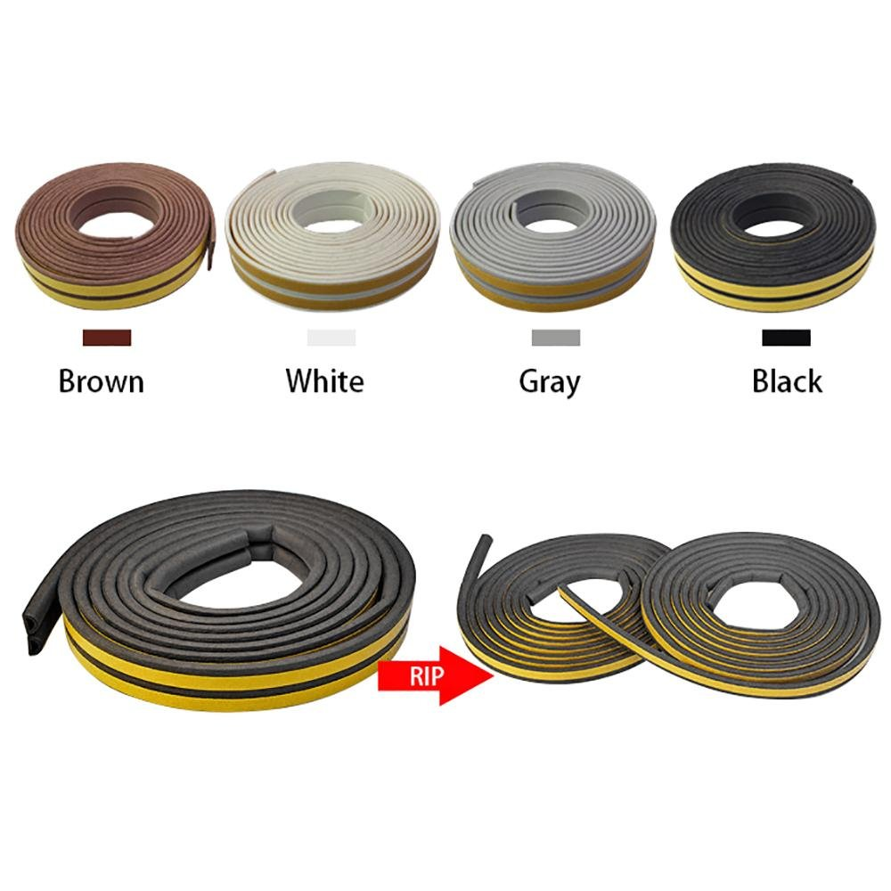Tira de Sellado,Seal Strip 2 Pack,Total 33Feet Long Weather Stripping Insulation Weatherproof Doors and Windows Soundproofing Seal Strip Collision Rubber Self-Adhesive Weatherstrip