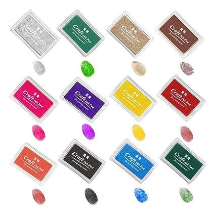 Amazon Ink Stamp Pads ANRAIN Fingerprint Pad For Kids