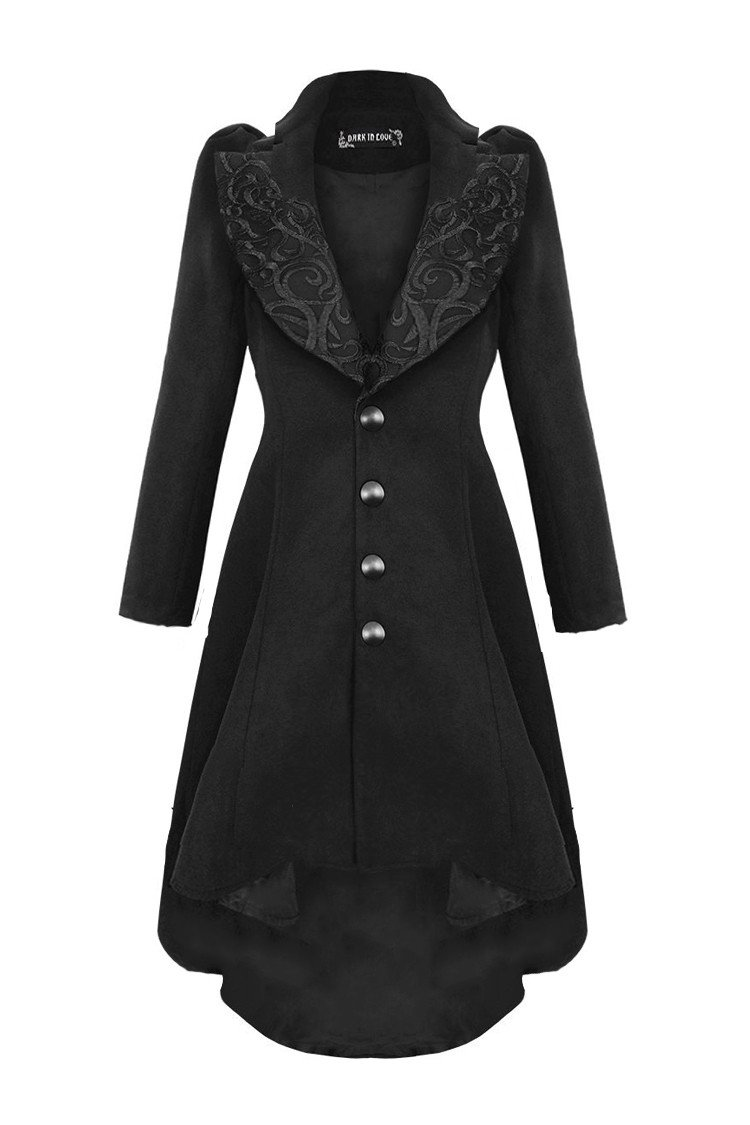 JW100 Gothic lady warn double-faced woolen dovetail robe jacket