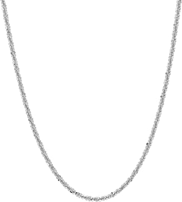 Sterling .925 Silver Rhodium 1.4mm Rolo Link Chain 16-24 Necklace Pear Shape Lobster Claw by IcedTime