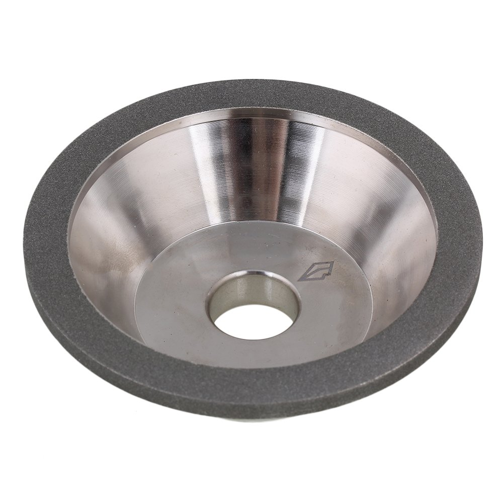 Yibuy Electroplate Cup Bowl Shape Diamond Grinding Wheel Grit 80 Grinder Silver
