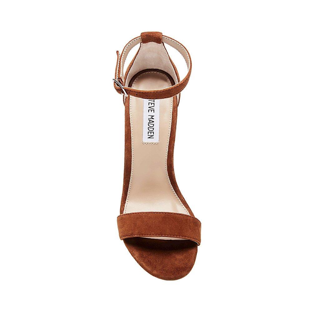 Steve Madden Women's Carrson Dress Sandal B07BKJS4SX 8 B(M) US|Chestnut Suede