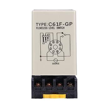 Interruptor de nivel, regulador de interruptor de nivel sin flotador líquido C61F-GP AC220V