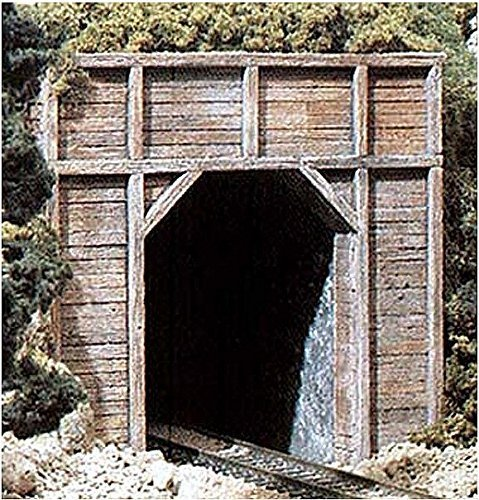 N Single Tunnel Portal, Timber (2) by Woodland Scenics