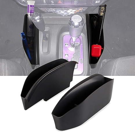 Center Console Side Organizer Tray Auto Transmission Gear Shift Side Storage Box Pocket Phone Storage for 2011-2018 Wrangler JK JKU Rubicon Sport Sahara