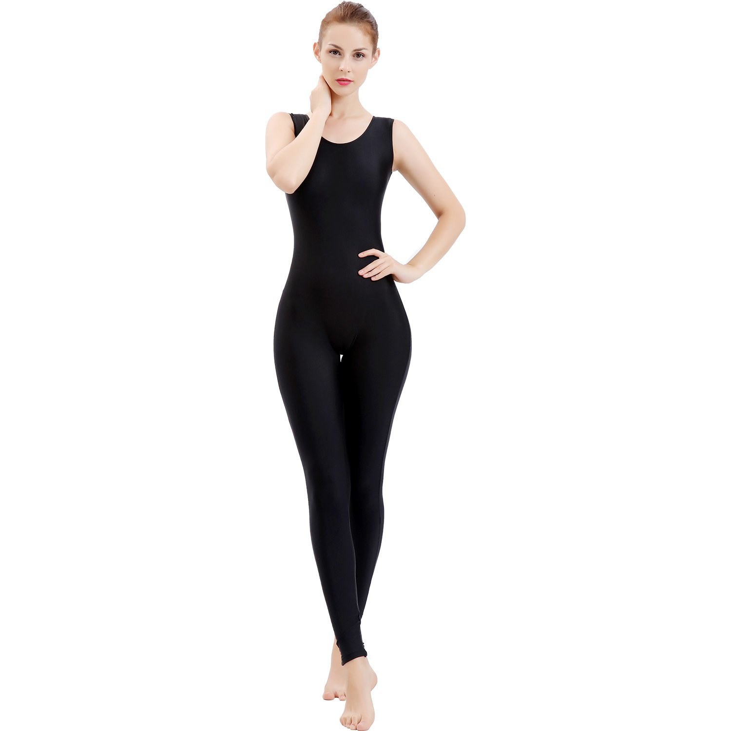 91d5e9d15886 Amazon.com  Gaibest Women Lycra Spandex Sleeveless Tank Dance Unitard  Bodysuit  Clothing