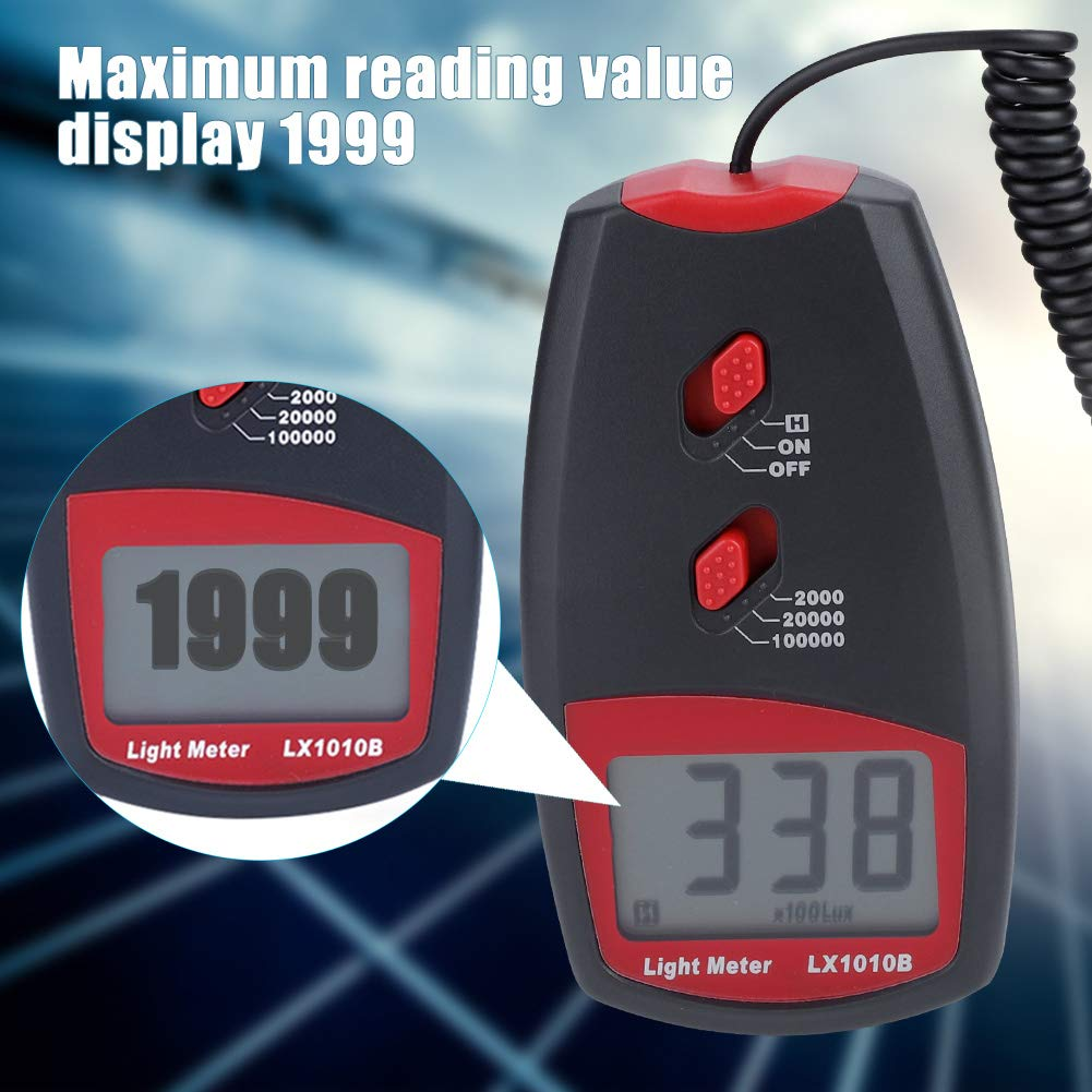 LX1010B Digital Luxmeter LCD Display Light Meter Environmental Testing Illuminometer by Wal front (Image #8)