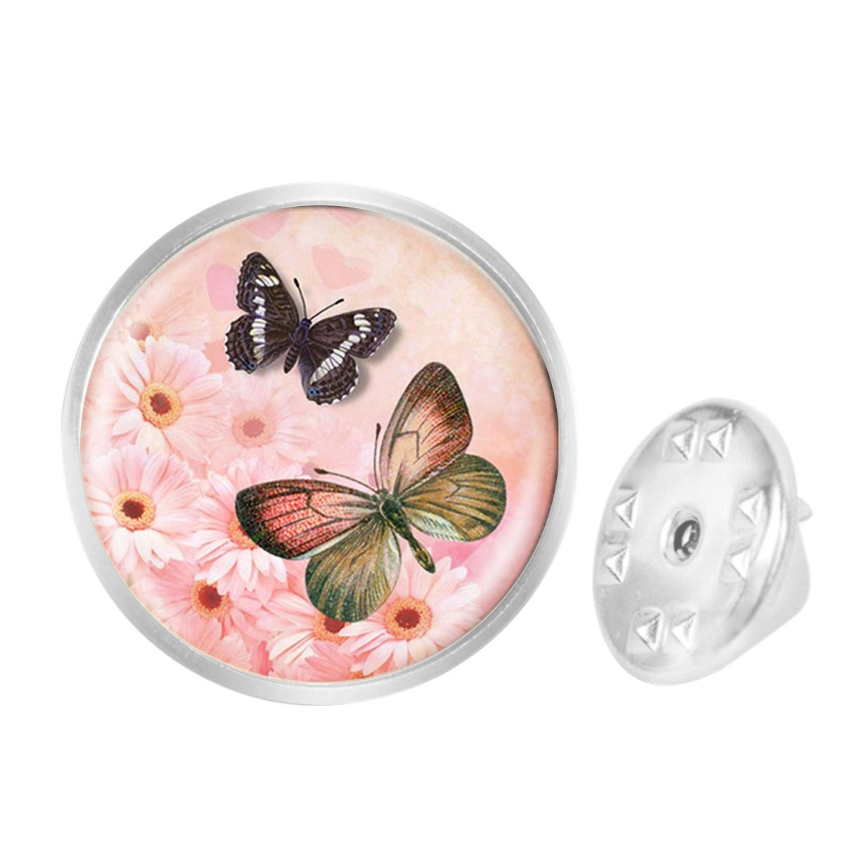 Custom Lapel Pin Brooches Pink Sweet Butterfly Banquet Badge Pins Trendy Accessory Jacket T-Shirt Bag Hat Shoe