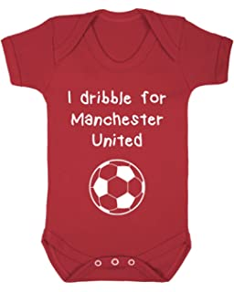 save off 29efb 6d46b InfiniteTee Born To Love Man Utd Like Daddy Baby Grow Vest ...