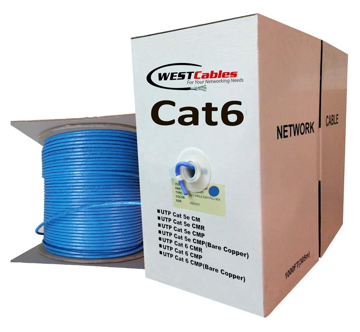 Cat6 Cat5e 1000ft non Plenum Bulk Solid utp Ethernet Network 550Mhz Cable