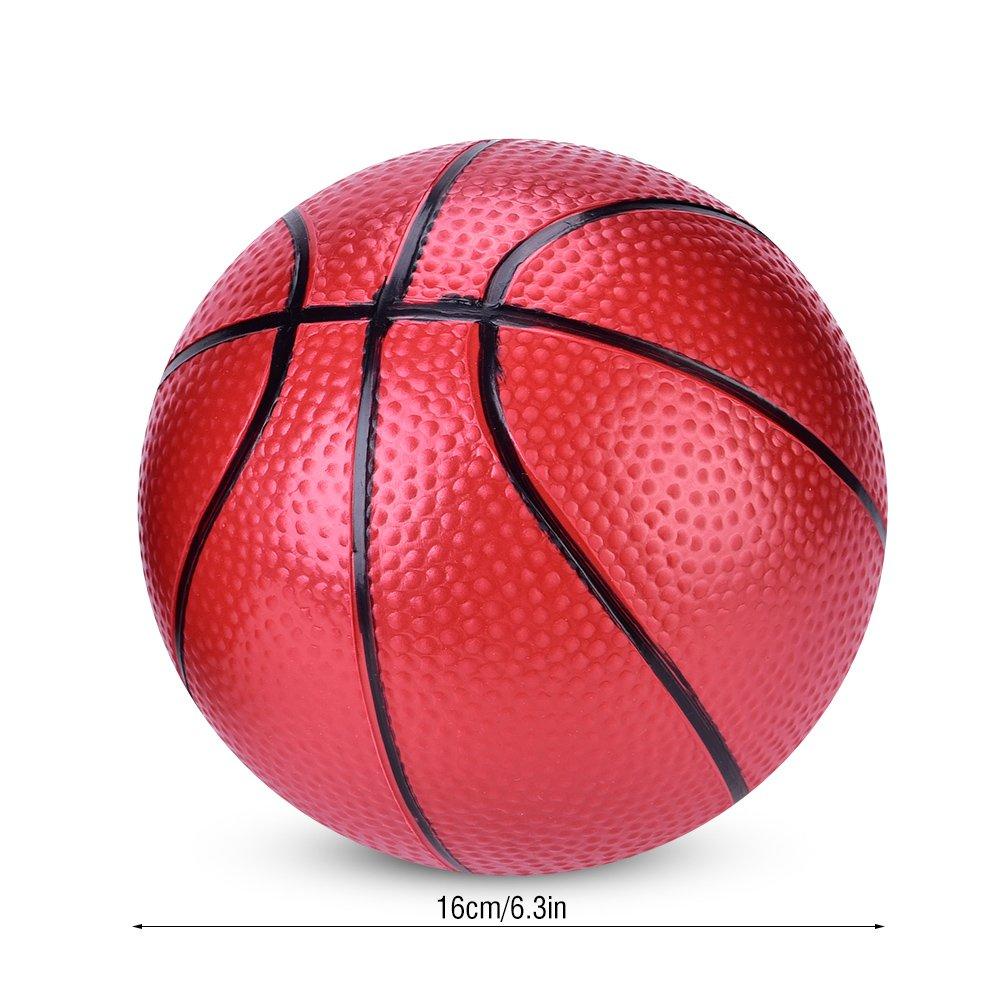 Baloncesto Inflable para Ni/ños Adolescentes Juego Bolas de Deporte de Interior al Aire Libre Novedad Diversi/ón Juguetes 6.3 Pulgadas 2 Piezas