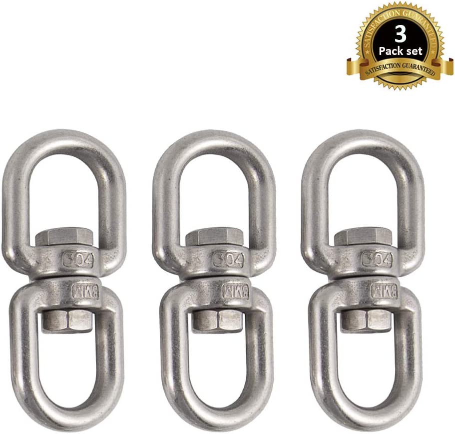 Eye to Eye Swivel Shackle Ring Connector Hardware Double Ended Swivel Hook Lependor Stainless Steel 304 Double Ended Swivel Eye Hook