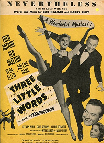 Never The Less Words Music Bert Kalmar Harry Ruby Sheet for sale  Delivered anywhere in USA