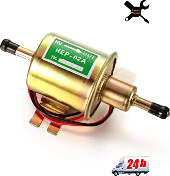 12V Car Boat Heavy Duty Diesel Petrol HEP-02A Set Metal Electric Fuel Pump New