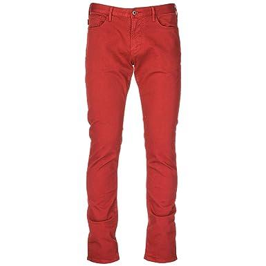 3688e55448 Emporio Armani Vaqueros Jeans Denim de Hombre Pantalones Nuevo Rojo EU 32  (UK 32) 6Z1J061N2BZ0343  Amazon.es  Ropa y accesorios