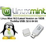 Linux Mint 18.3 Latest Version Full Operating System & Software on 16GB Toshiba USB - 64 & 32 Bit