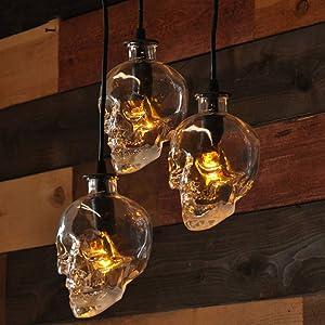 NIUYAO Pendant Light Lamp Dome Shade Hanging Ceiling Light (Skull Shape)