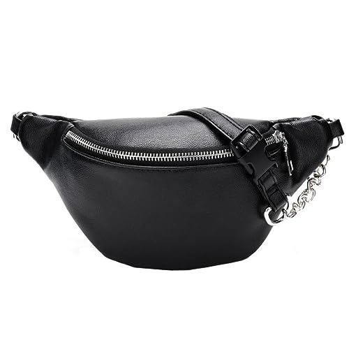 Ieason Waist Bag Women Fashion Chain Leather Messenger Bag Shoulder