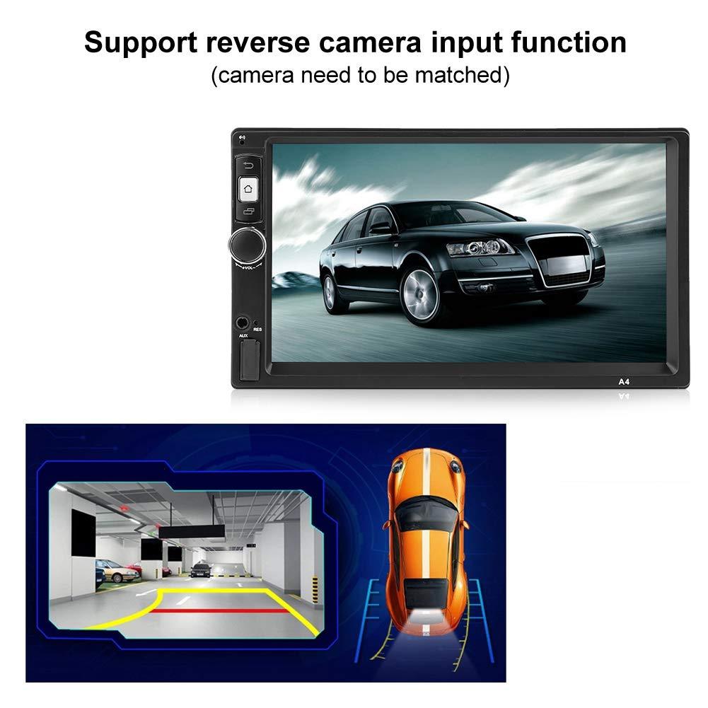 Duokon 7 pouces /Écran Tactile Autoradio 2 Din Lecteur Audio St/ér/éo de Voiture Multim/édia MP5 Player FM Soutien Cam/éra Invers/ée//Navigation GPS//Wifi