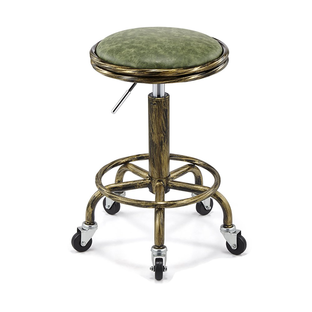 Mesurn JP フェイクレザーキッチン朝食バースツール、360度ロータリー、レトロ防爆、美容椅子を持ち上げることができます (色 : 9, サイズ さいず : H64cm) B07F59CTYS H64cm|9 9 H64cm