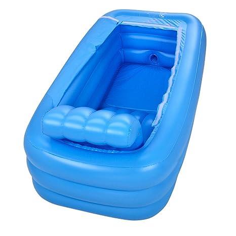 Neilyn Gran bañera para adultos Práctico portátil para niños Bañera inflable para adultos Salud Baño para ...
