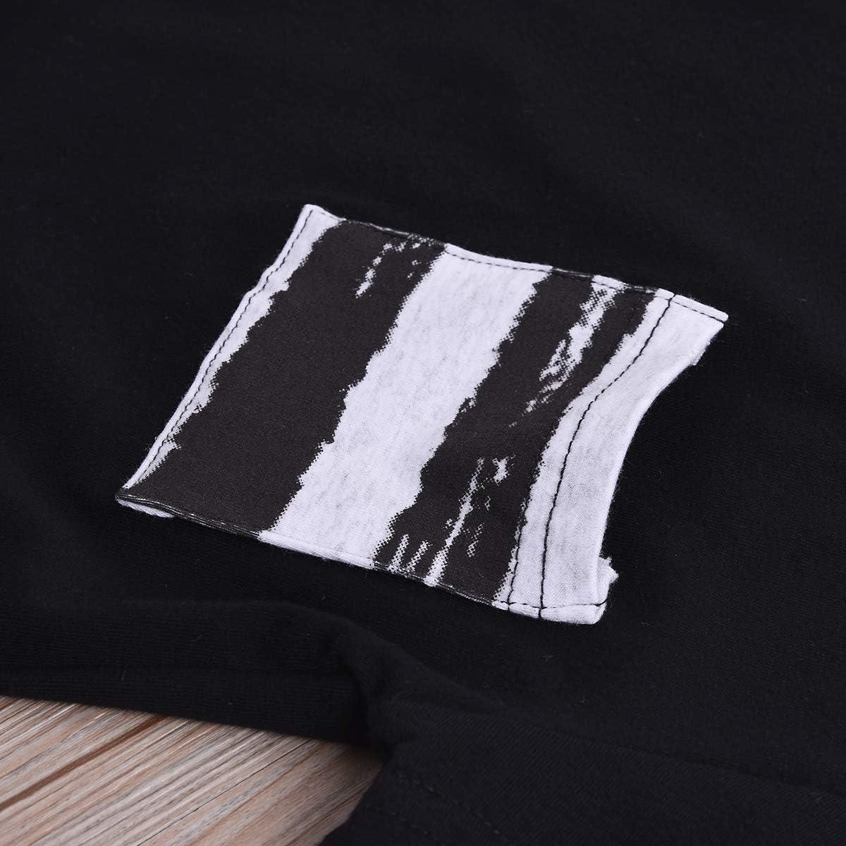 Infant Baby Boys Short Sleeve T-Shirt Top Stripes Shorts Summer Suit Playwear Sets 2Pcs