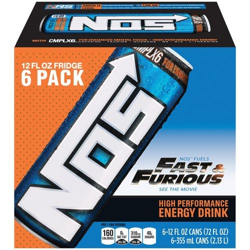 6 Pack - NOS Energy Drink - 12oz.