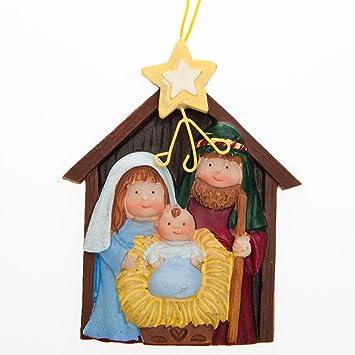 "ONE DOZEN (12) Resin NATIVITY Ornaments/3.5"" CHRISTMAS Tree  Decoration/HOLY - Amazon.com: ONE DOZEN (12) Resin NATIVITY Ornaments/3.5"