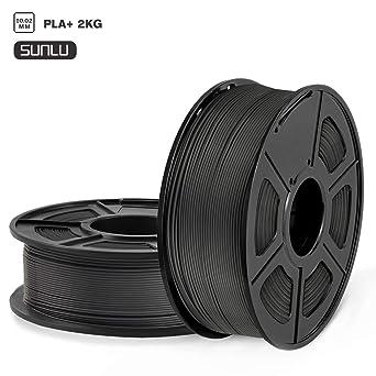 // ABS Negro Precisi/ón Dimensional SUNLU Filamento ABS 1.75mm 1kg Impresora 3D Filamento 0.02 mm
