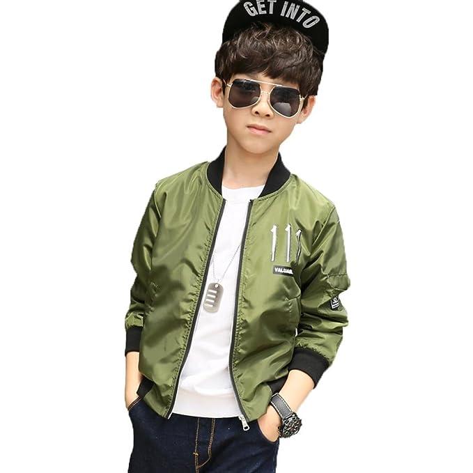 Bambino Vestiti Cappotto Giacca Abbigliamento Ragazzo Autunno Outwear Tops  Corta Giacca a Vento Casual Manica Lunga 23a6188160c