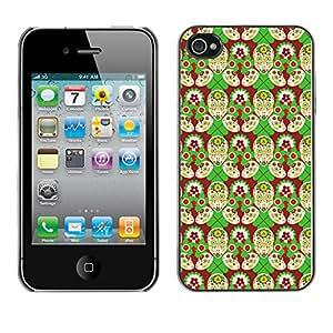 ZECASE Funda Carcasa Tapa Case Cover Para Apple iPhone 4 / 4S No.0002052