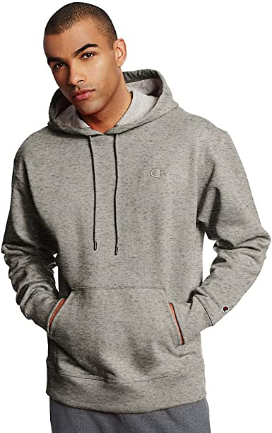 Champion Mens Powerblend Fleece Pullover Hoodie/_Oxford Grey