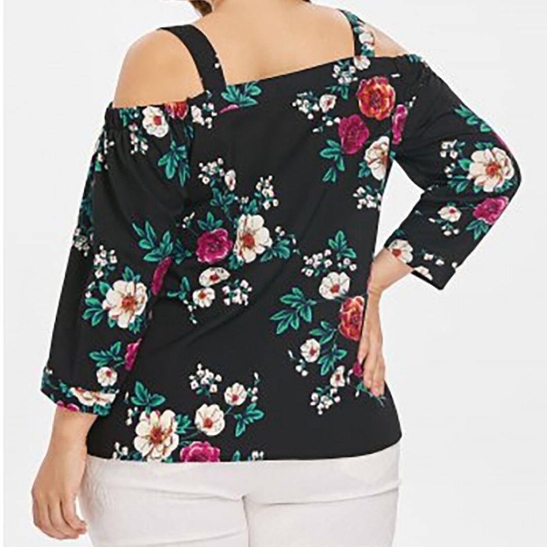 Covermason Mujer Ropa Camiseta Mujer Verano 2018, Camiseta con Estampado de Flores y Estampado de Flores para Mujer de Verano Blusa de Tirantes de túnica: ...