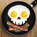 Soledi Make Ur Breakfast Funny! Silicone Skull Fried Egg Mold Mould Poach Oven Pancake Egg Ring Shaper Novelty Kitchen Tool
