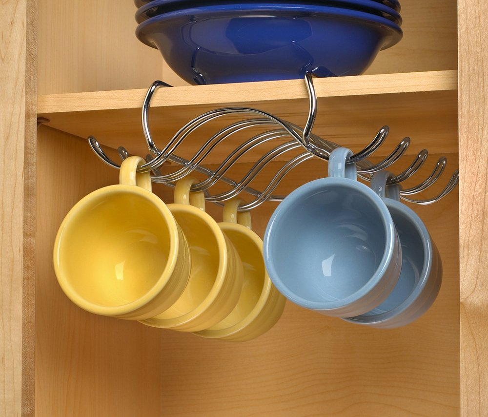 Coffee Cup Rack Under Cabinet Amazoncom Spectrum Diversified Under The Shelf Mug Holder