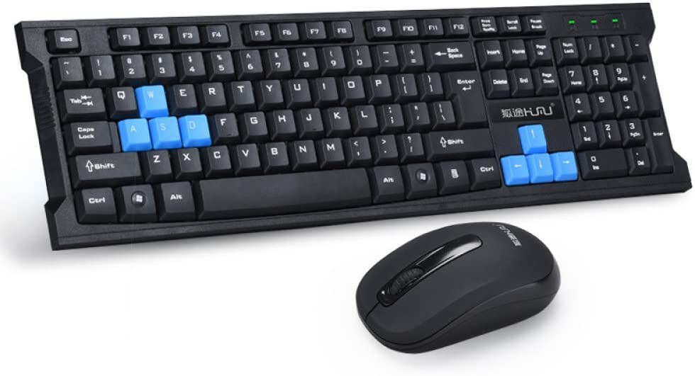 GJJ 2.4G Wireless Keyboard and Mouse Set Slim Game Office Wireless Mouse and Keyboard Set USB Keyboard and Mouse